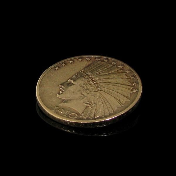 1910-D $ 10 U.S. Indian Head Gold  Coin - Investment