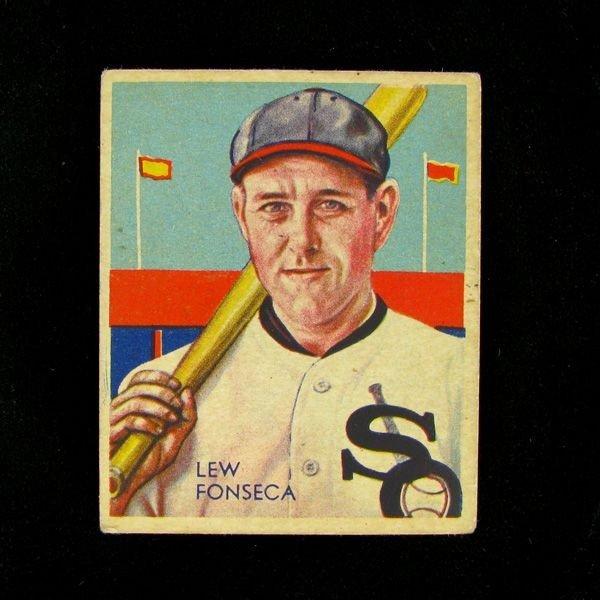 Lew Fonseca #7BP $20-100 Green Dia. Stars Baseball Card