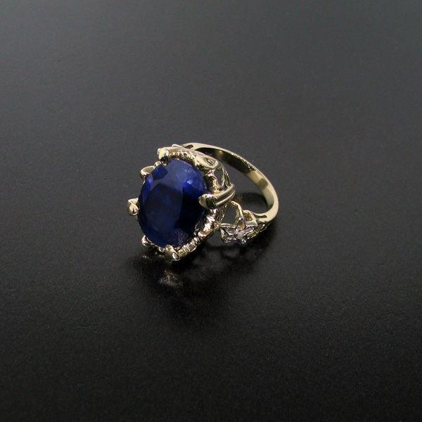 APP: 27.6k 13.28CT 14 kt. Gold, Blue Sapphire Ring