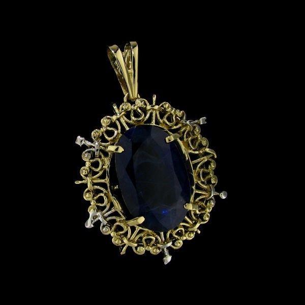 APP: 36.3k 31.04CT 14 kt. Gold, Sapphire Pendant