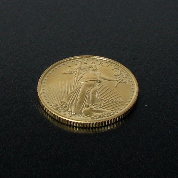 1999 $5 U.S. 1/10 Saint-Gaudens Gold Coin - Investment