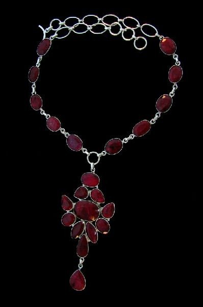APP: 91.3k 174.53CT Ruby & Sterling Silver Necklace
