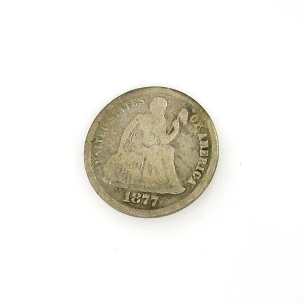 1877 CC Seated 10c Coin - Investment