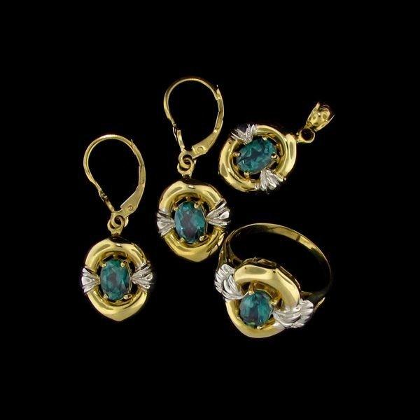 14 kt. Gold, Tourmaline Set