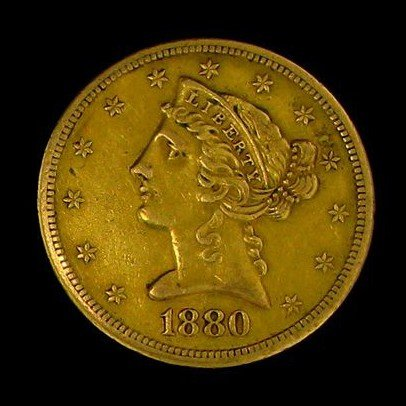 1880-S U.S. Gold Liberty Coronet $5 Coin - Investment