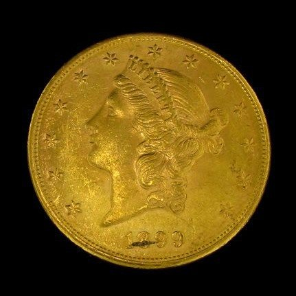1899 U.S. Gold Liberty Head $20 Coin - Investment