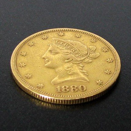 1880-S $10 U.S. Liberty Head Gold Coin - Investment
