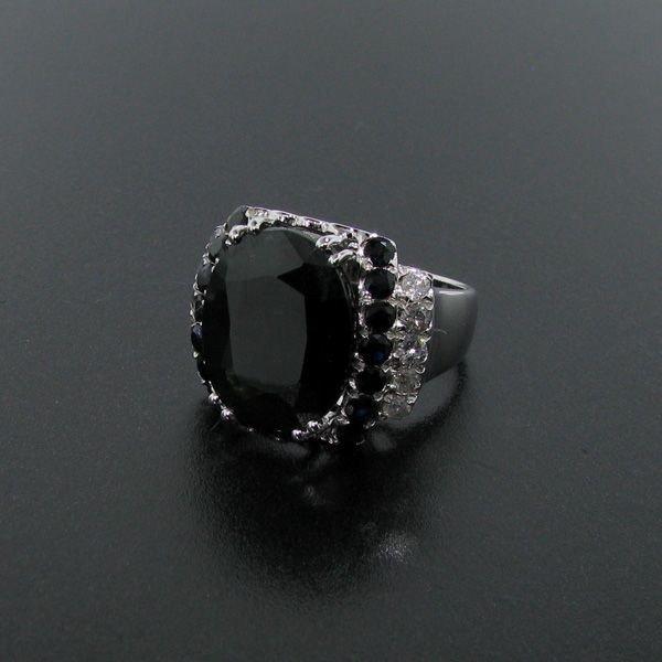 APP: 17k 14 ktCT Blue Sapphire & Diamond