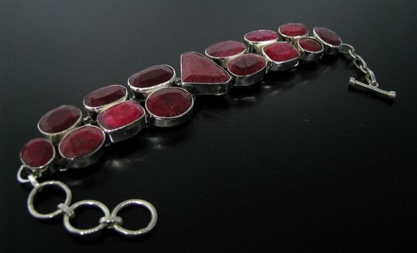 APP: 75.6k 146.19CT Ruby & Sterling Silver Bracelet