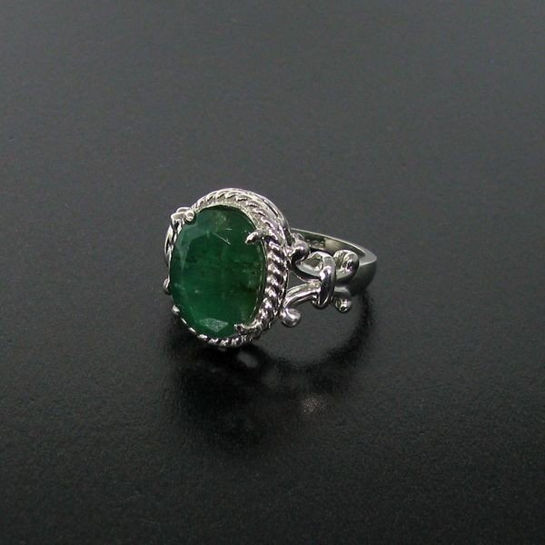 APP: 6.5k 4.19CT Emerald & Sterling Silver Ring
