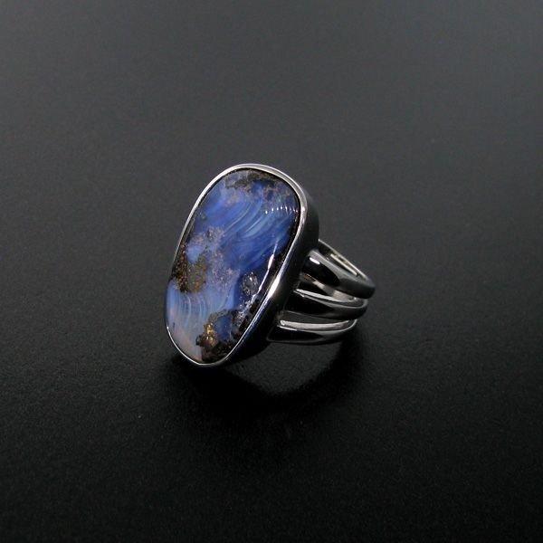 APP: 13.6k 18.66CT Boulder Opal & Sterling Silver Ring
