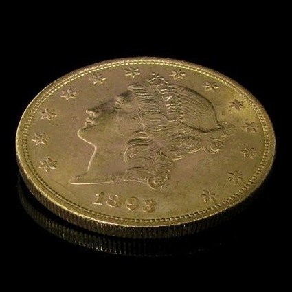 1893 $ 20 U.S. Liberty Head Gold  Coin - Investment