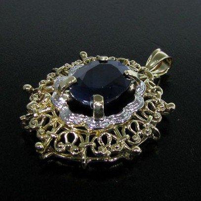 APP: 25.4k 12.39CT 14 kt. Gold, Blue Sapphire Pendant
