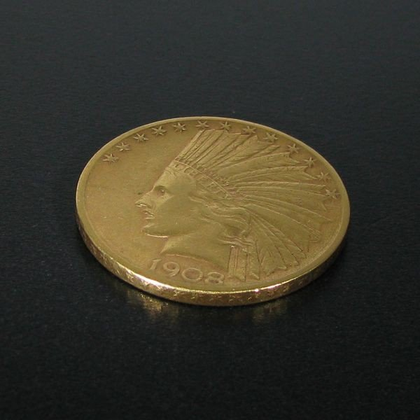 1908-D $10 Indian Head Gold Coin - Investment