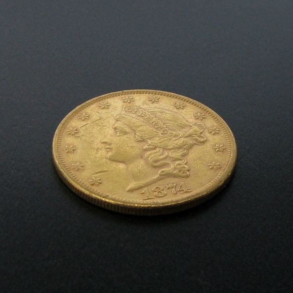 1874 $20 U.S. Liberty Head Gold Coin - Investment