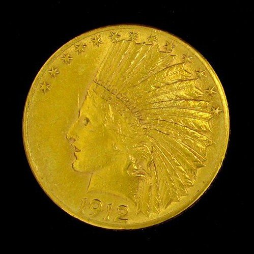 1912 $10 U.S. Gold Indian Head Coin - Investment