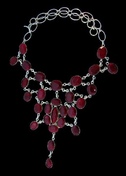 APP: 120.4k 230.75CT Ruby & Sterling Silver Necklace
