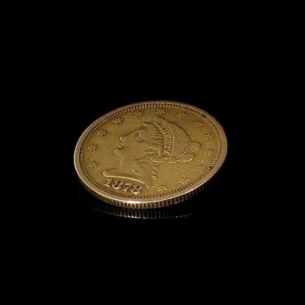 1878-s $ 2.5 U.S. LIberty Head Gold  Coin - Investment