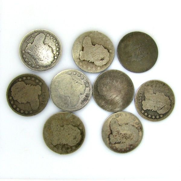 9-Misc Capped Bust Dime Coin - Investments