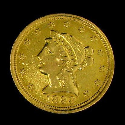 1898 U.S. Gold Coronet $2.50 Coin - Investment