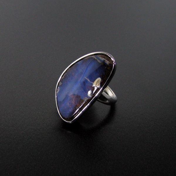 APP: 10.8k 19.44CT Boulder Opal & Sterling Silver Ring