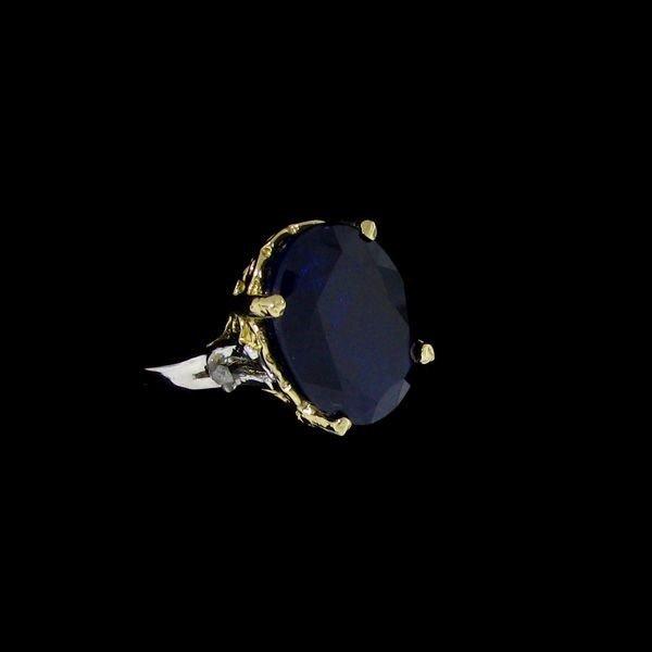 APP: 19.6k 8.16CT 14 kt. Gold, Sapphire & Diamond Ring