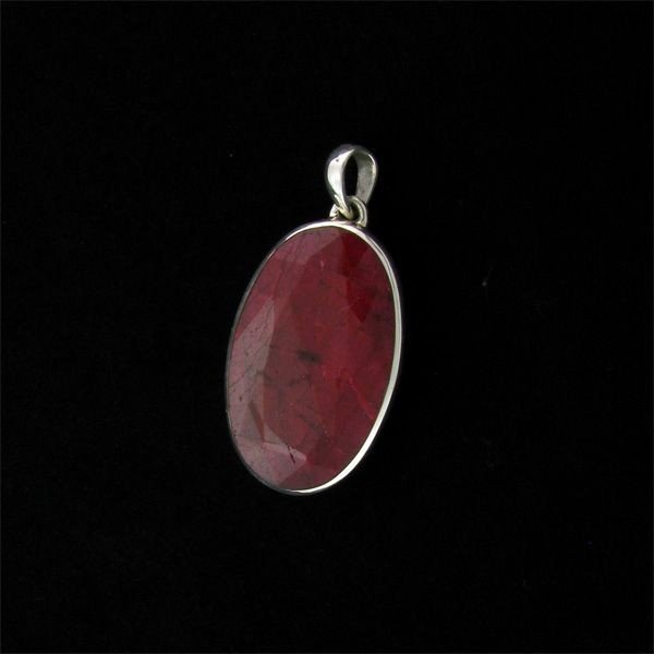 APP: 73.2k 88.70CT Ruby & Sterling Silver Pendant
