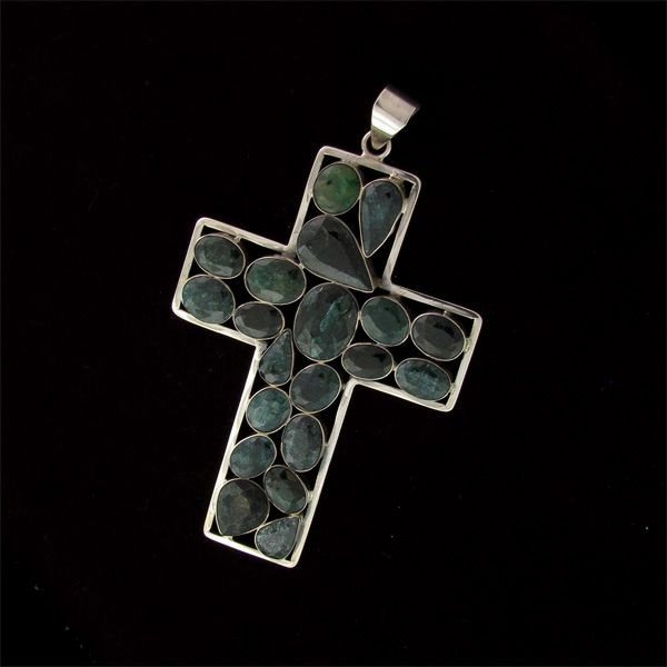 APP: 62.4k 99.70CT Emerald & Sterling Silver Pendant