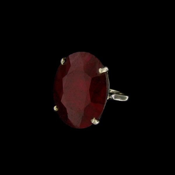 APP: 26.1k 23.21CT Ruby & Sterling Silver Ring