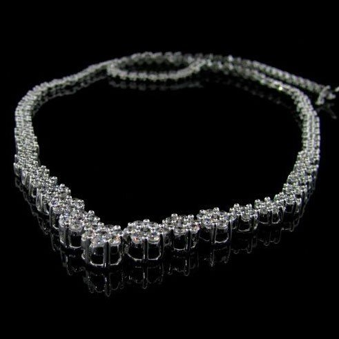APP: 16.8k 14 kt. White Gold, 3.00CT & Diamond Necklace