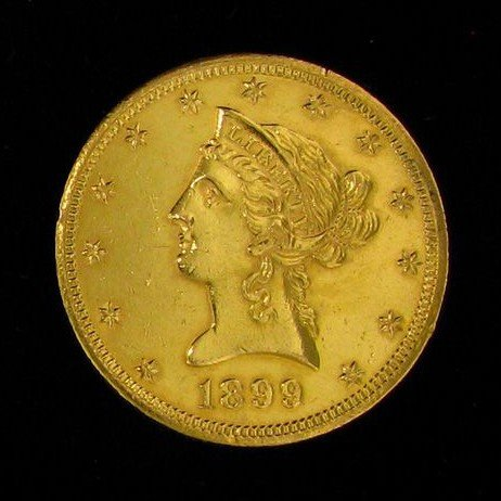 1899 $10 U.S. Liberty Head Gold Coin - Investment