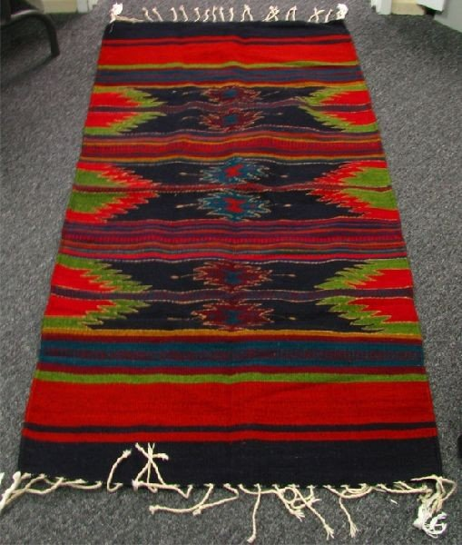 Handmade Zapotec Rug 56 x 28 approx