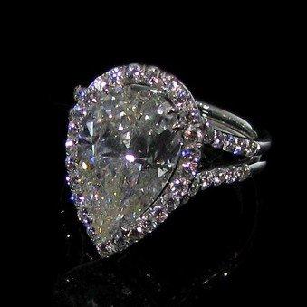 APP: 145.7k 5.09CT Diamond & 18 kt. White Gold, Ring
