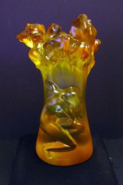 Vase w/Nude Relief