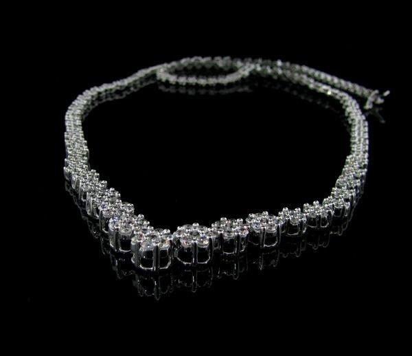 APP: 16.8k 14 kt. White Gold, 3.00CT & Diamond Necklace