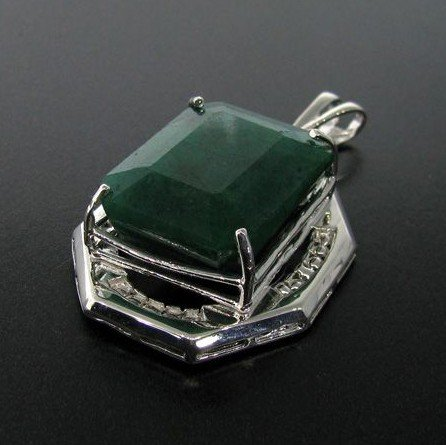 APP: 17.8k 52.81CT Emerald & Sterling Silver Pendant