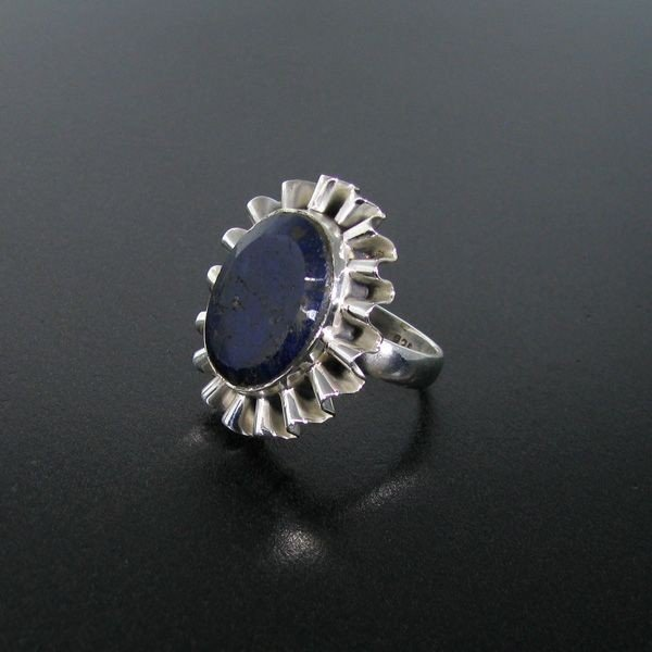 APP: 2.3k 7.62CT Blue Sapphire & Sterling Silver Ring
