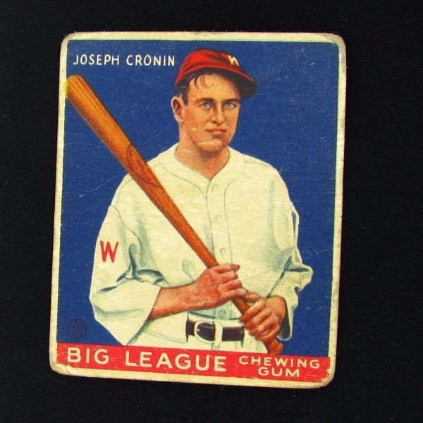 Joseph Cronin #63 BP $75-$425 Goudey Baseball Card