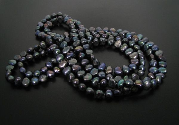 60''Inches Black Pearl Necklace