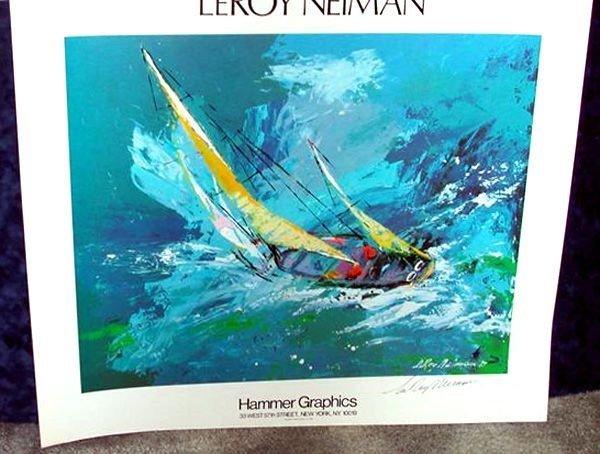Hand Signed LeRoy Neiman: Blue Sailing