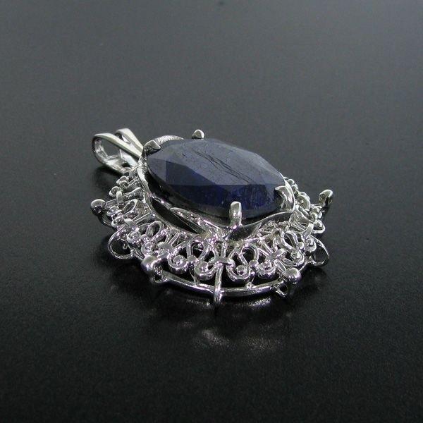 APP: 4.5k 17.33CT Sapphire & Sterling Silver Pendant