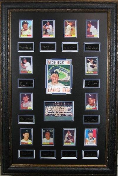 1961 Yankees - Plate Signatures