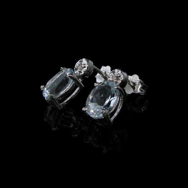 Clear Aquamarine Earrings