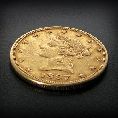 1897 $10 U.S. Liberty Head Gold Coin - Investment