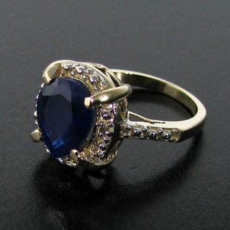 APP: 5k 14kt Gold, 4CT Blue Sapphire Ring