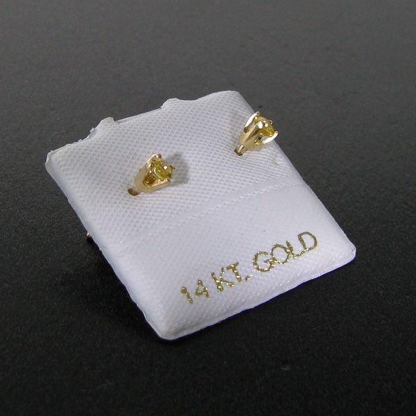 14 kt. Gold, Yellow Sapphire Earrings