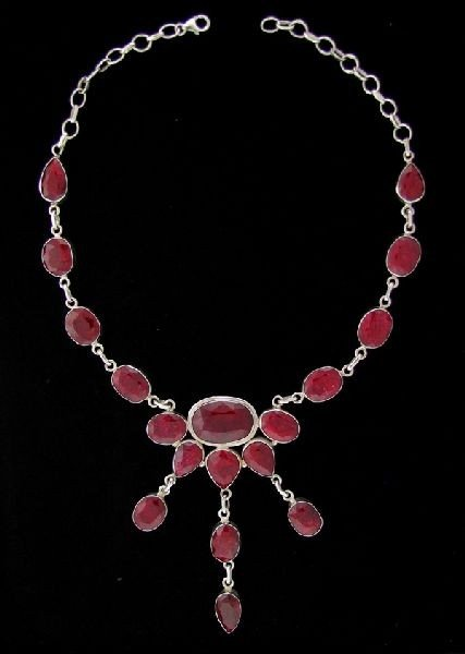 APP: 167.8k 183.02CT Ruby & Sterling Silver Necklace