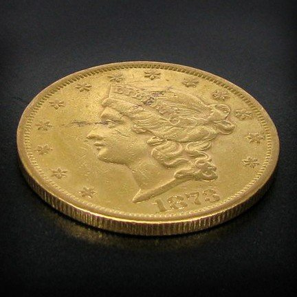 1873 $20 U.S. Liberty Head Gold Coin - Investment
