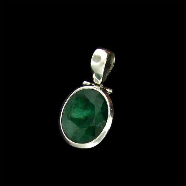 APP: 9.7k 15.25CT Emerald & Sterling Silver Pendant