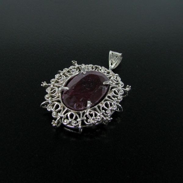 APP: 3.7k 28.89CT Ruby & Sterling Silver Pendant